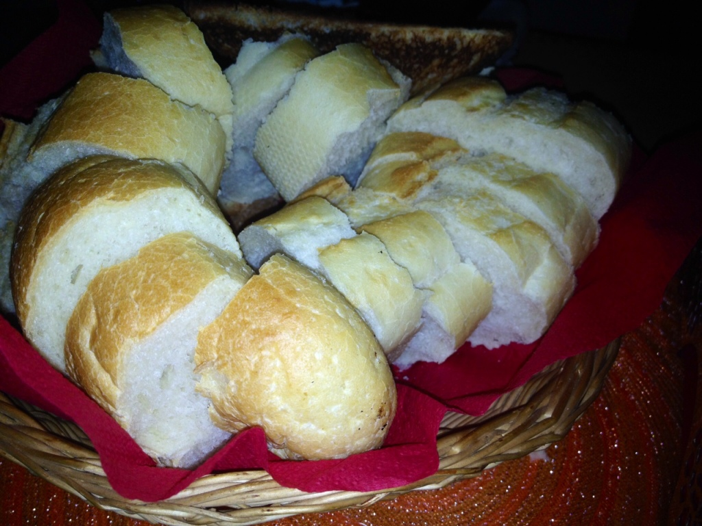 Warm bread and Lard, it is so delicious. It took me a while to stat eating it though.. :o)