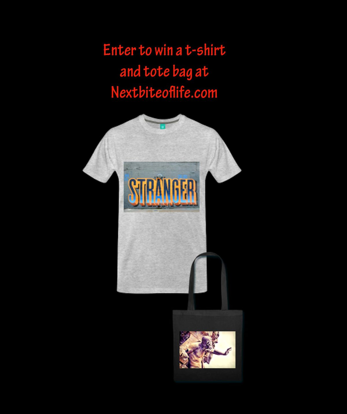 win a t-shirt and tote bag giveaway