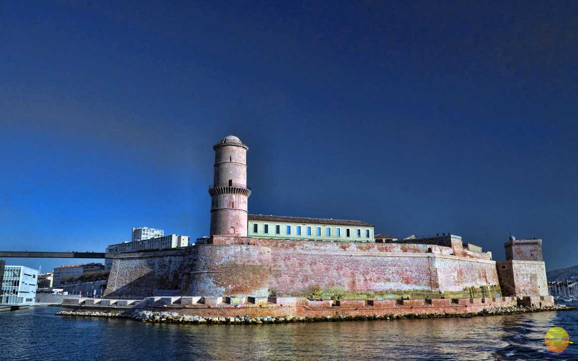 Marseille fort in France