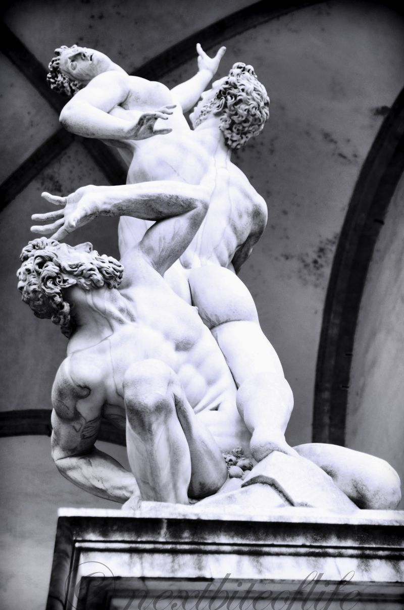 art sculpture in Florence Italy center