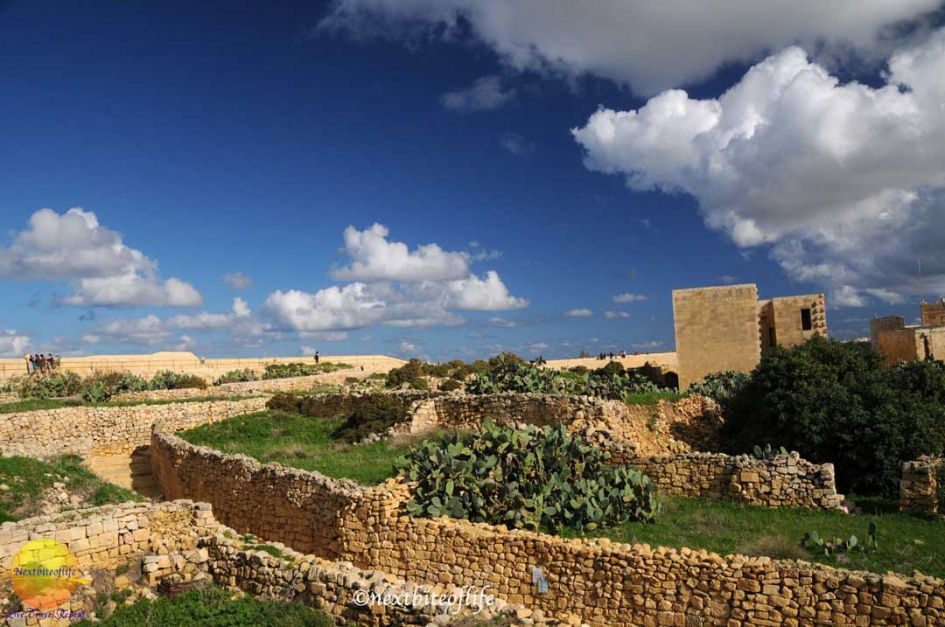 gozo day trip from malta castel view