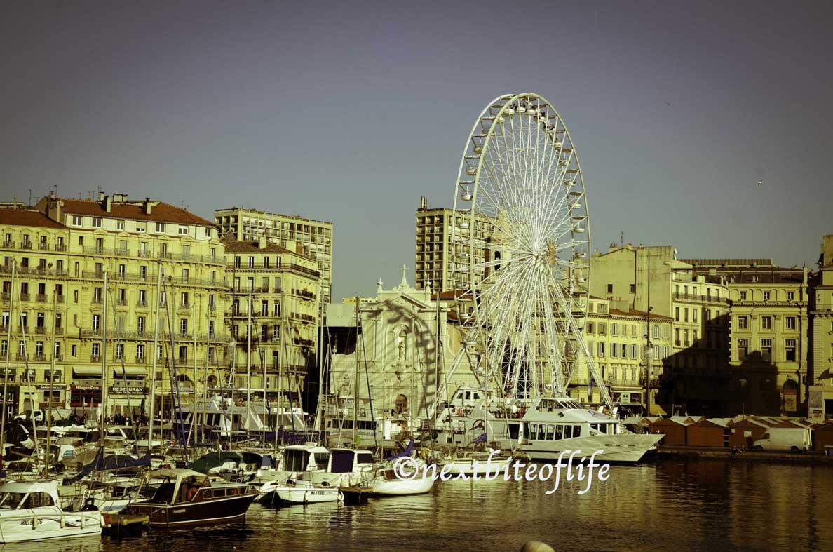 old port marseille ferris wheel
