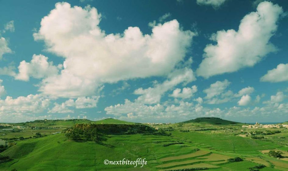lush green view of gozo