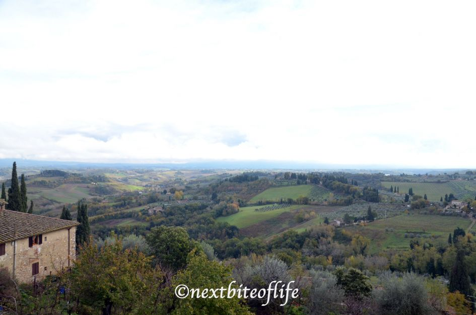 Landscape view of San Gimniano Italy