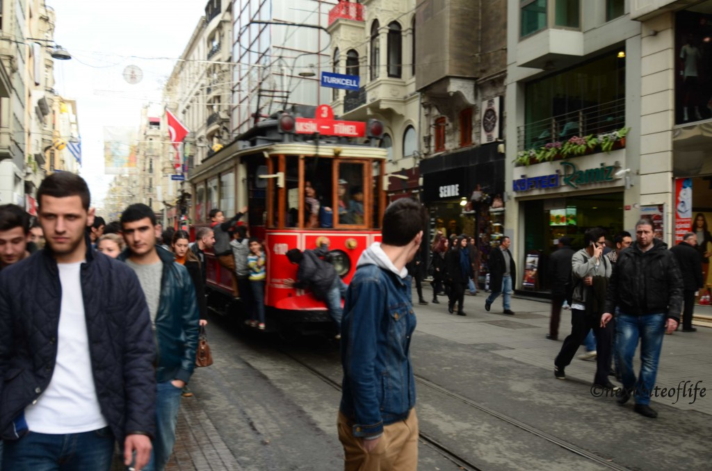 Istabul tram Beyoglu
