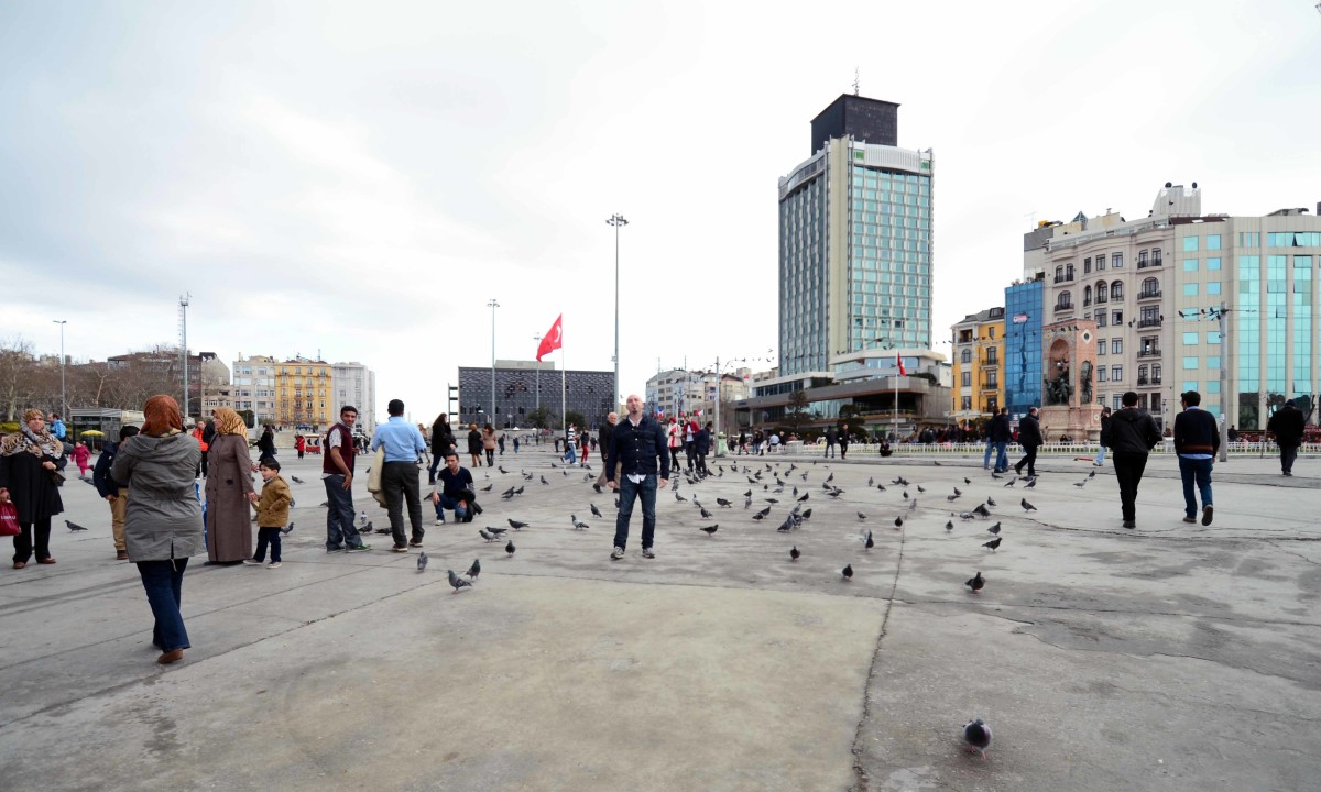Taksim Square. This is usually where all the demonstrations and protests take place. It's a good idea to find out what's going on before venturing there.