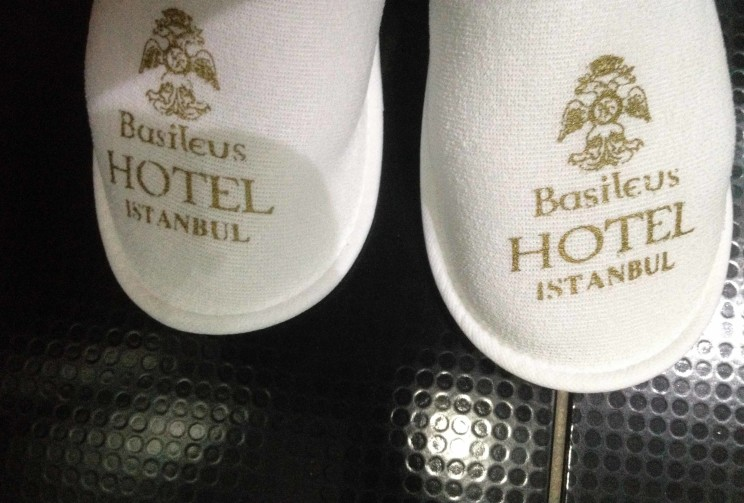 Basileus hotel Istanbul slippers delightful Istanbul visit