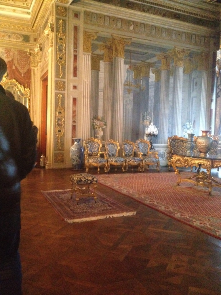 palace interior when visiting Dolmabahce palace Istanbul