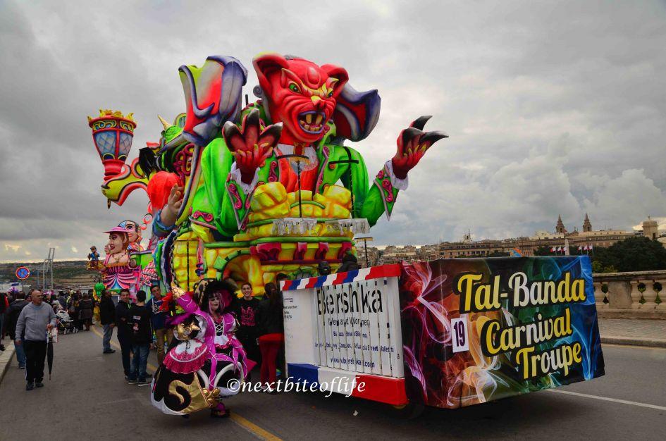 Tal Banda float in Malta carnival
