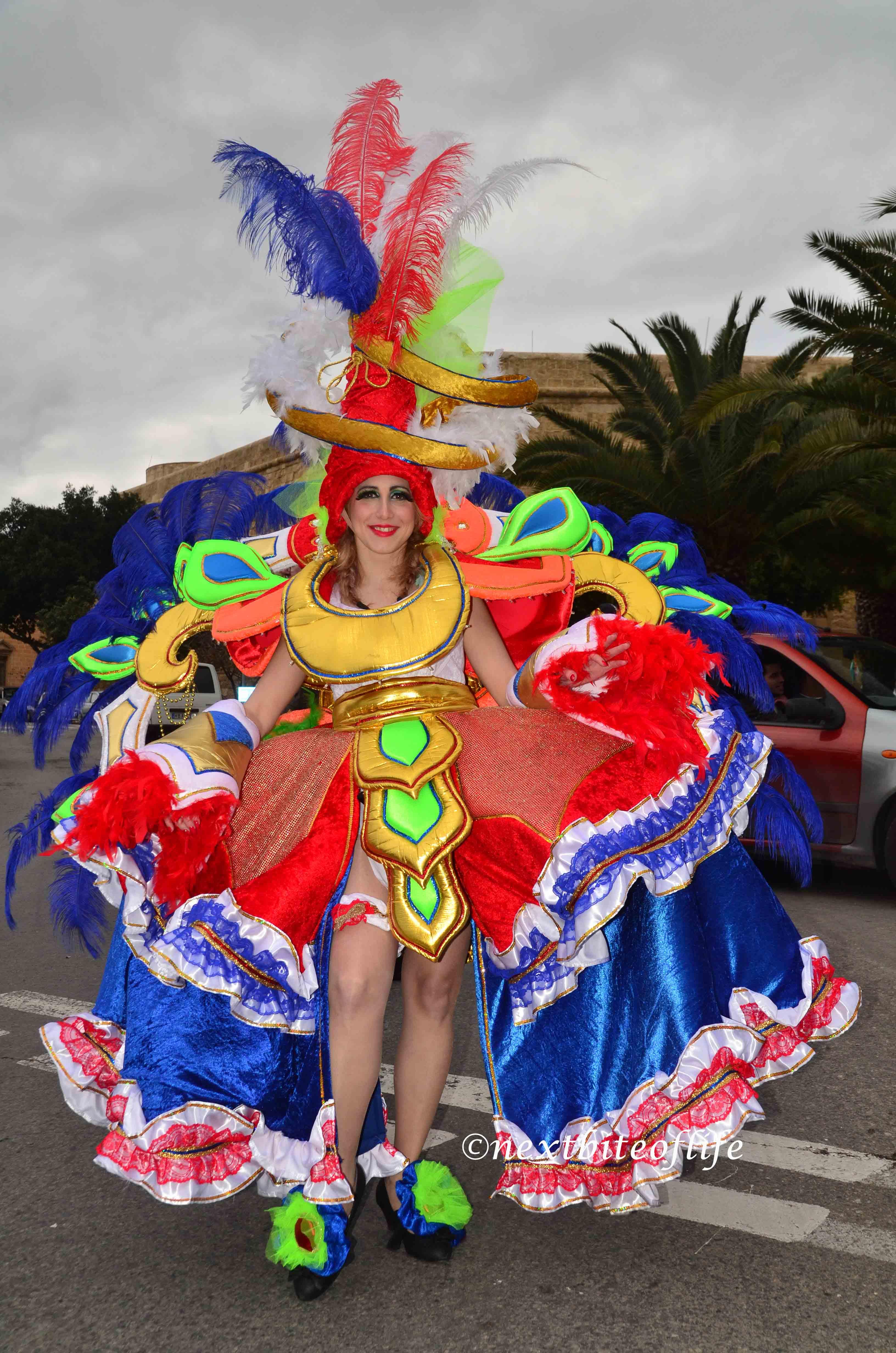 girl posing in carnival gear
