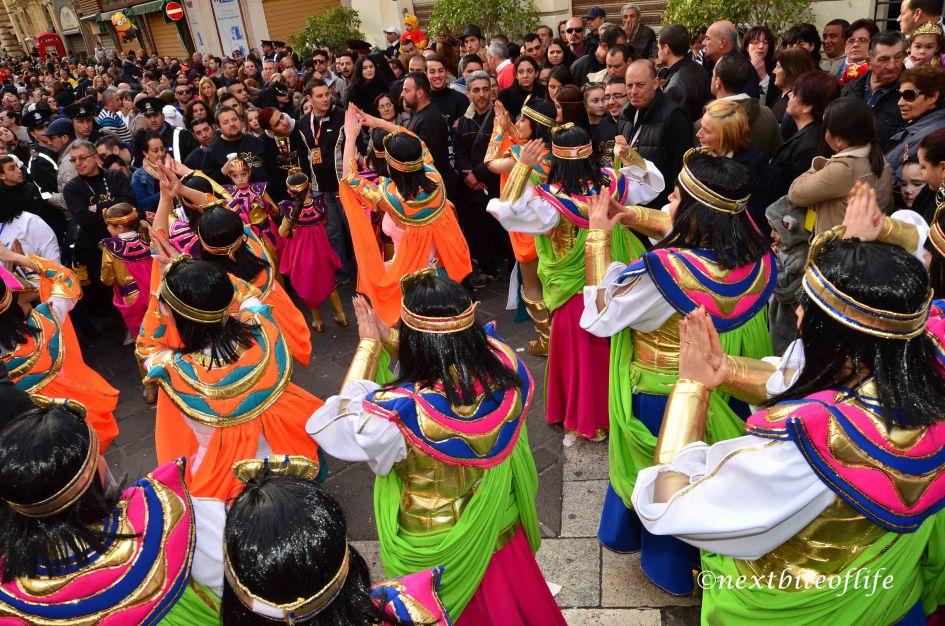 girls dancing at the malta carnival