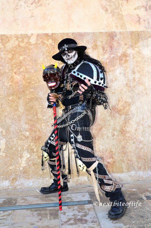 goth grim reaper at the malta carnival