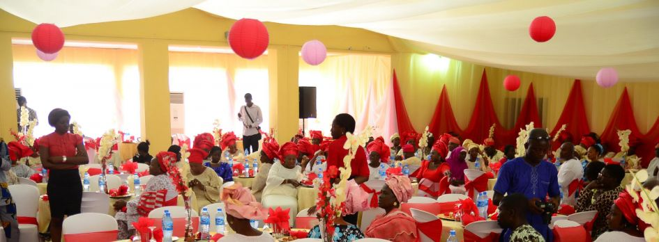 Guests are told the colors to wear with their invitations.