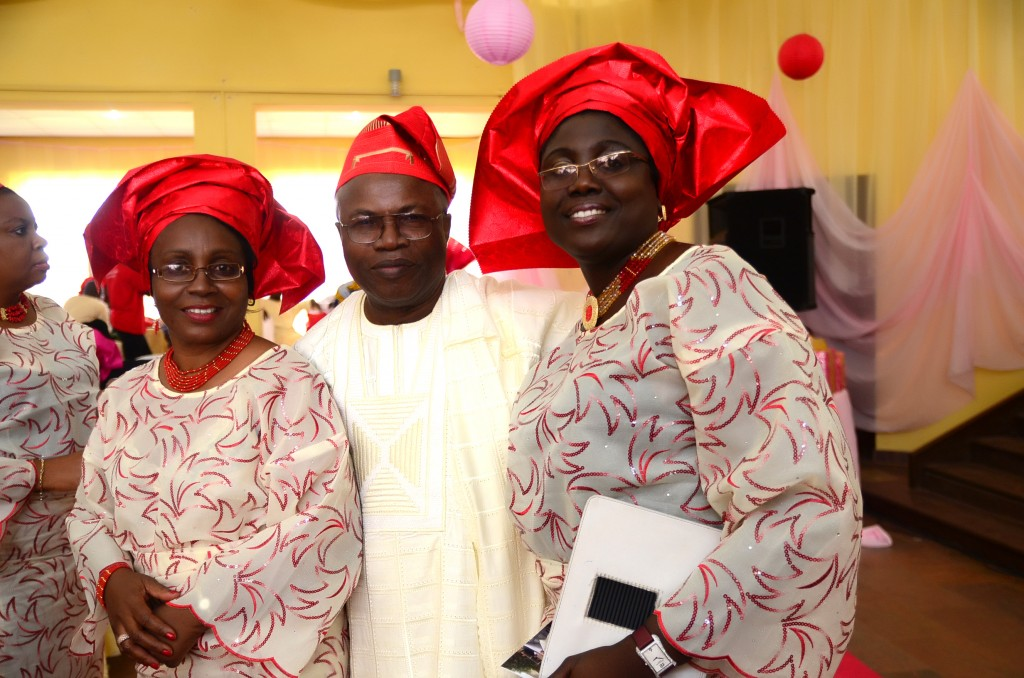 Guests at nigerian engagement ceremony