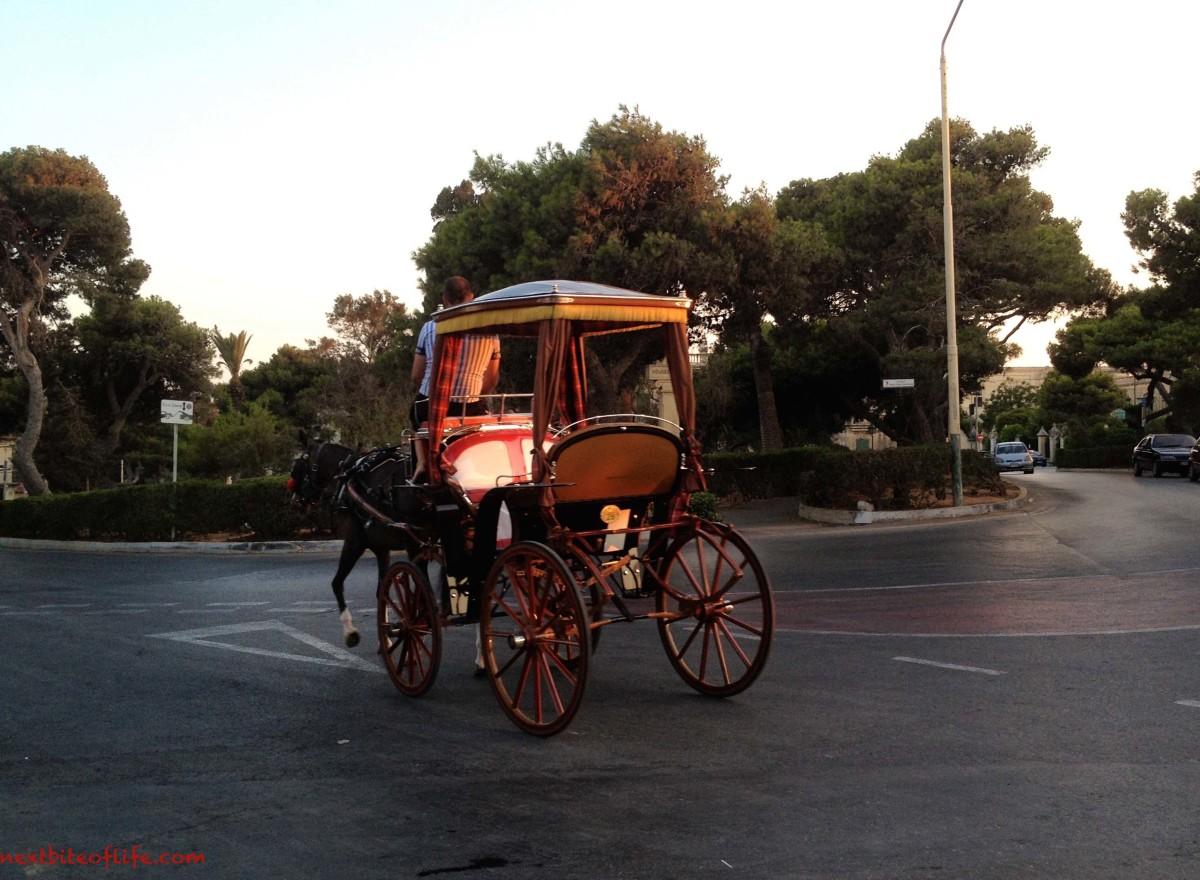 carriage in mdina malta