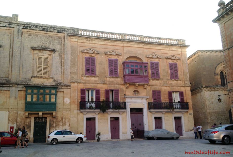 The buildings in Mdina the silent city have a lot of character..