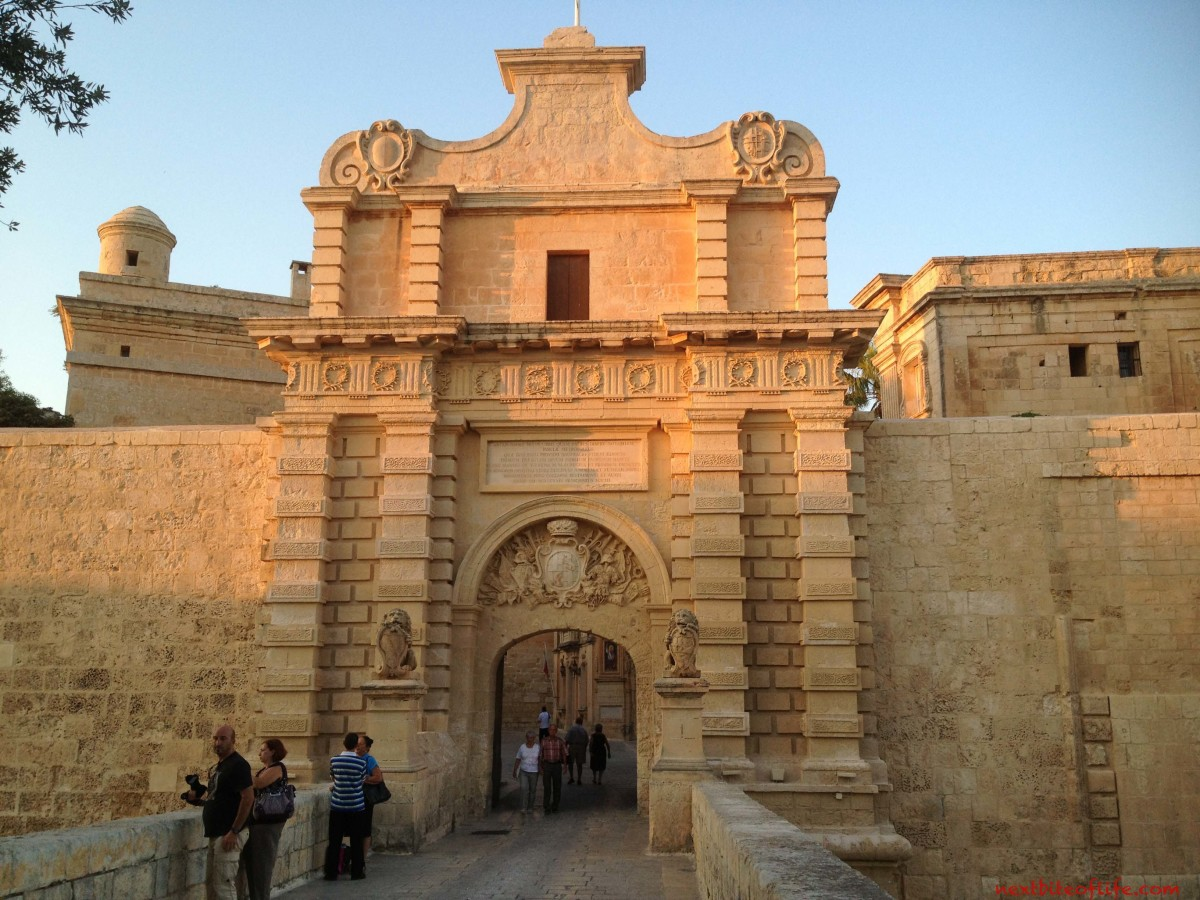 The entrance to Mdina, the Silent City.