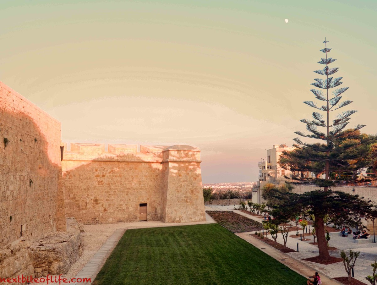 The newly redone play area outside of the walls of Mdina.