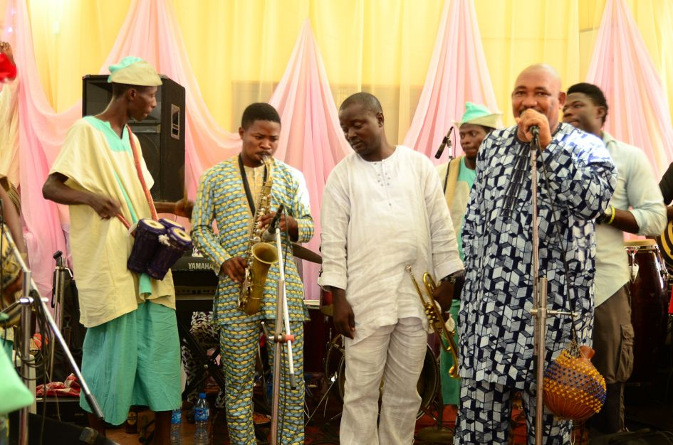 The band is ready to entertain at a yoruba engagement