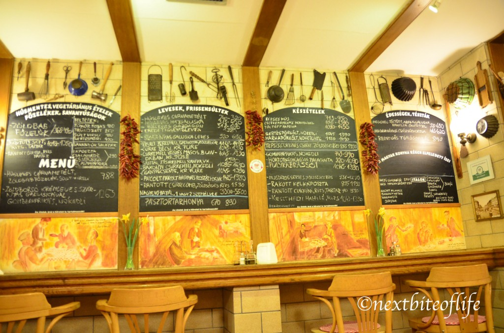 budapest restaurant menu