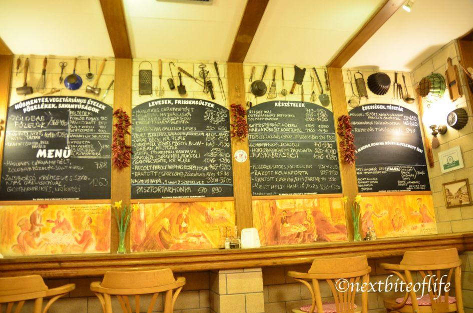 budapest restaurant menu in hungarian 4 days Budapest itinerary