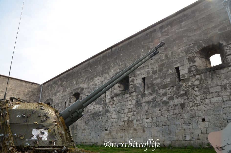 Cannon on the hill fort in Budapest Hungary