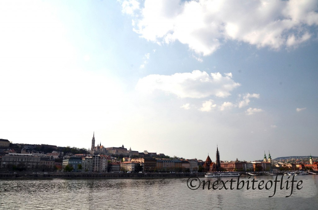 views from the Danube river in Budapest