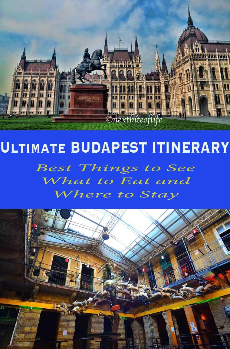 Budapest 4 day itinerary. #budapest #hungary #budapestitinerary #4daysinBudapest #budapestguide