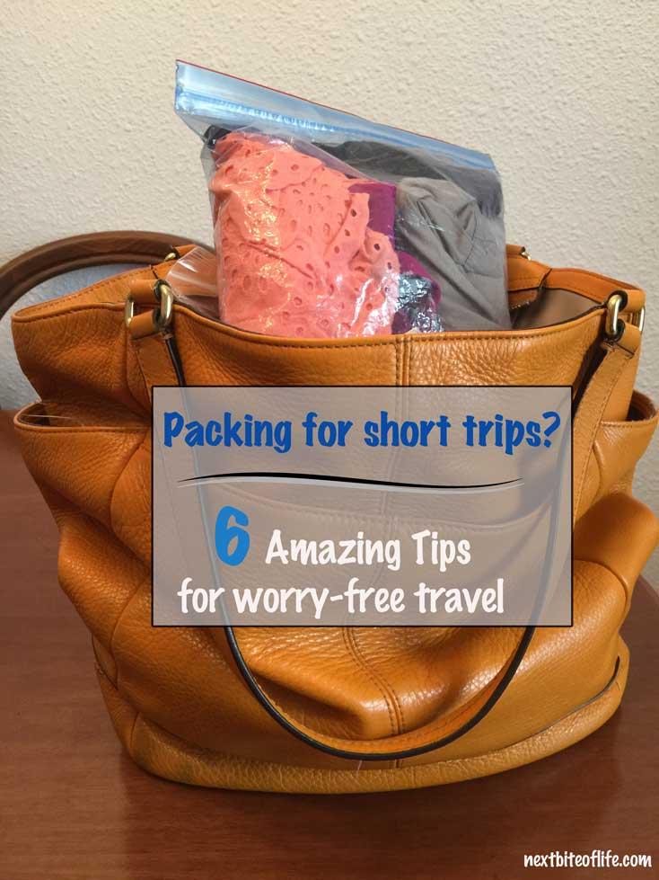 how to pack for short trips #shorttripshack #packingtips #packing #whattopack #packinglist #travelhacks #packinghacks #traveltips