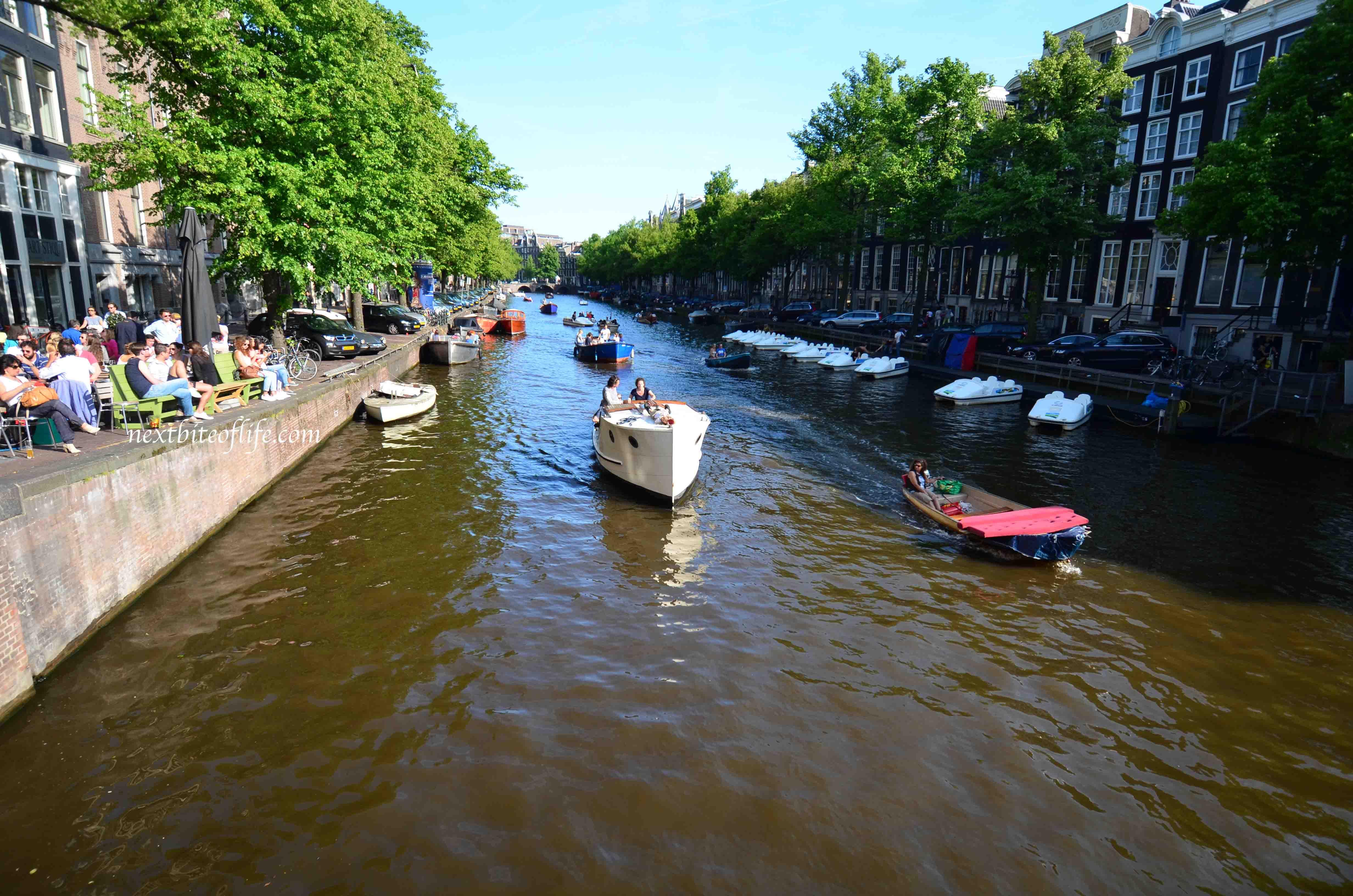 view of amsterdam from bridge