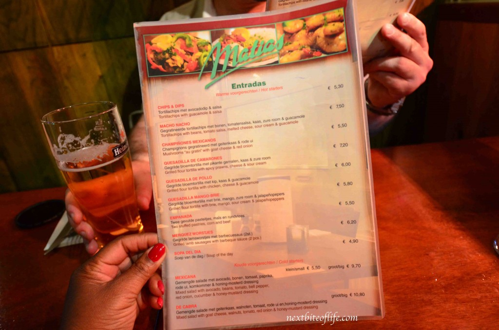 amsterdam menu