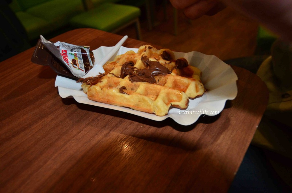 Waffle with Nutella... this was good.