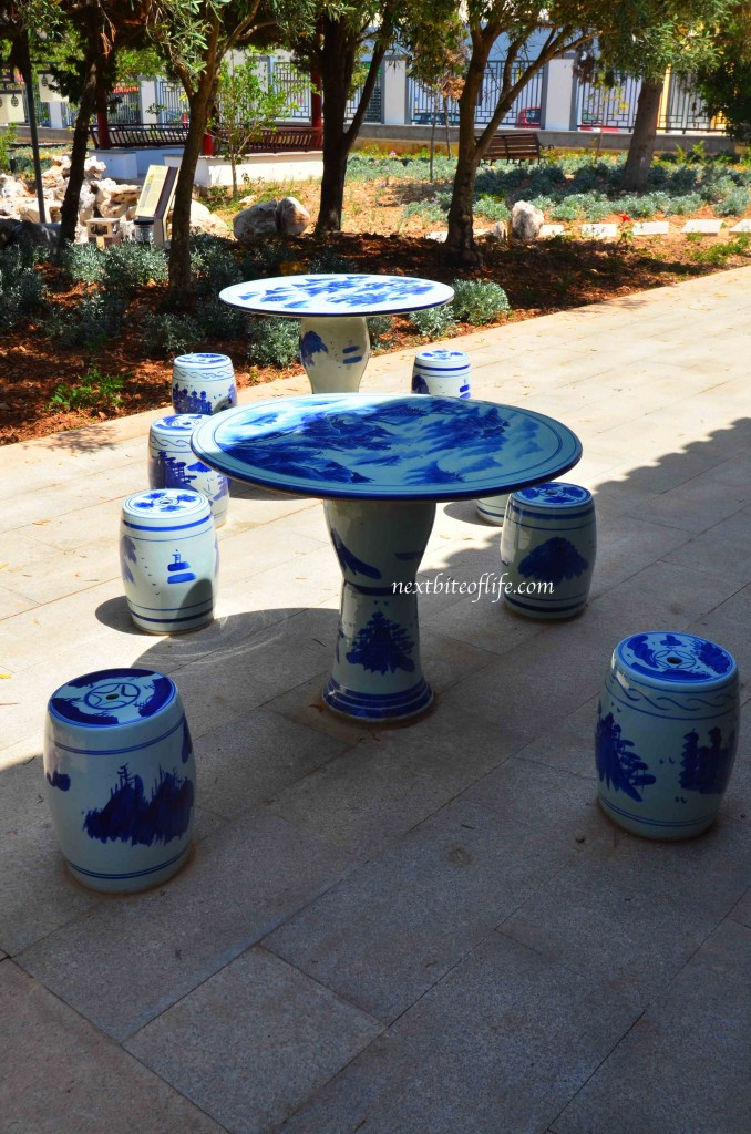 chinese tables and stools chines garden of serenity st lucia malta #chinesegardenmalta #malta #visitmalta