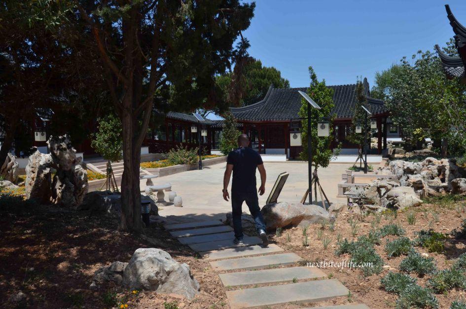 curvy path Chinese garden of serenity St Lucija