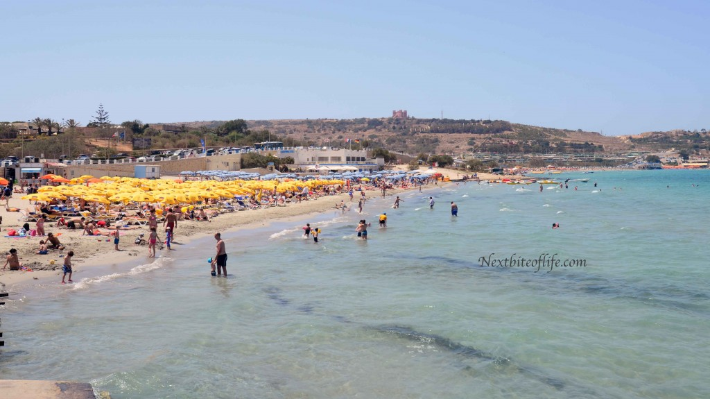 summer beach photo mellieha
