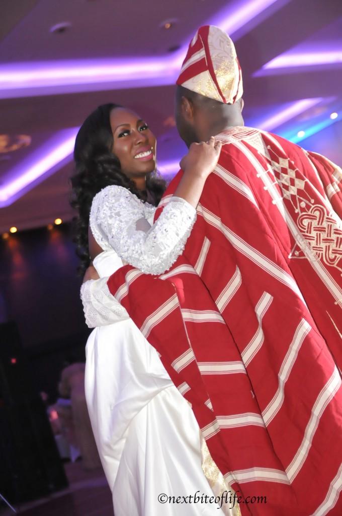 London bride and dad dancing