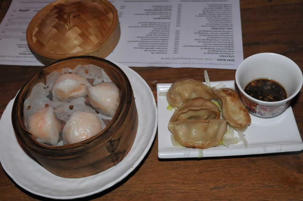 dumplings, steamed and fried plates.