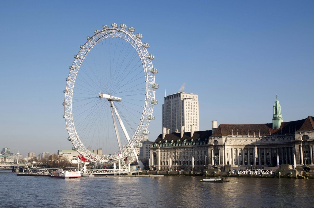 the London eye is one of the top sites.