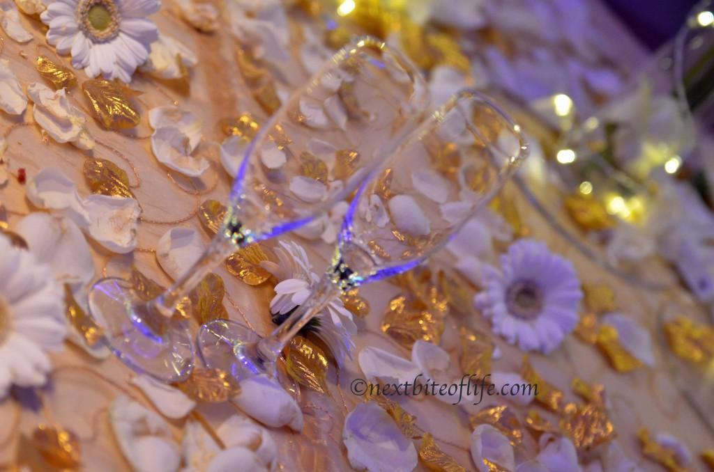 wedding reception glasses
