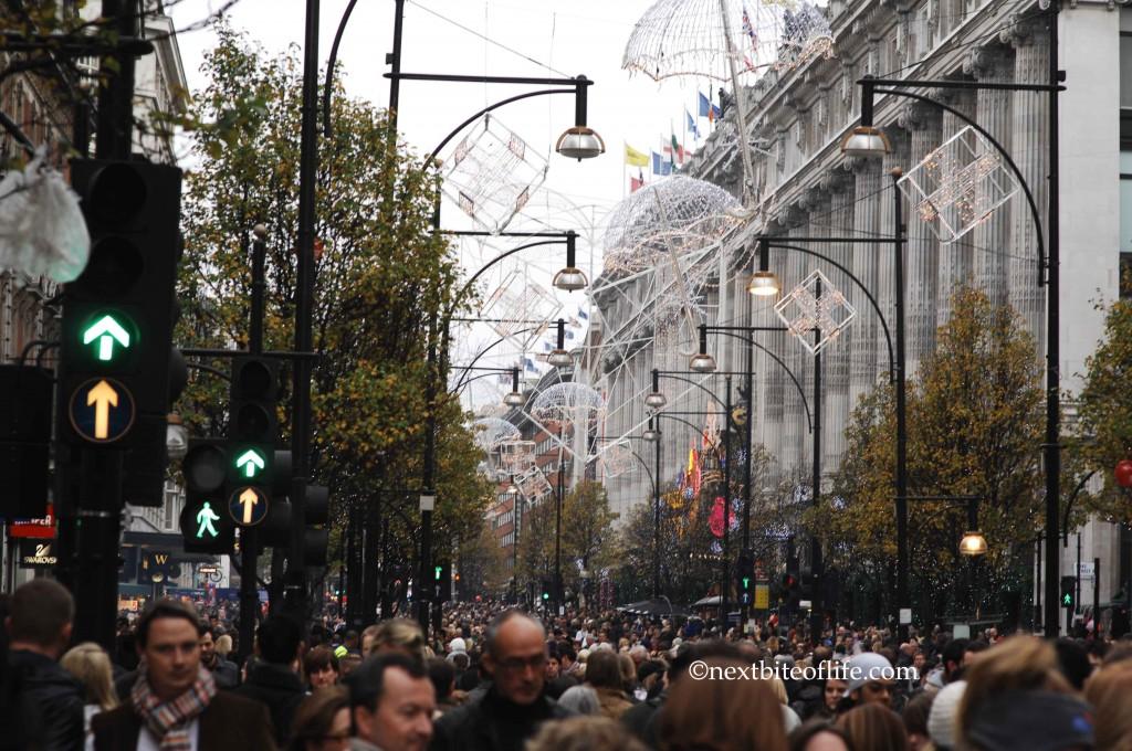 frugal london oxford circus christmas