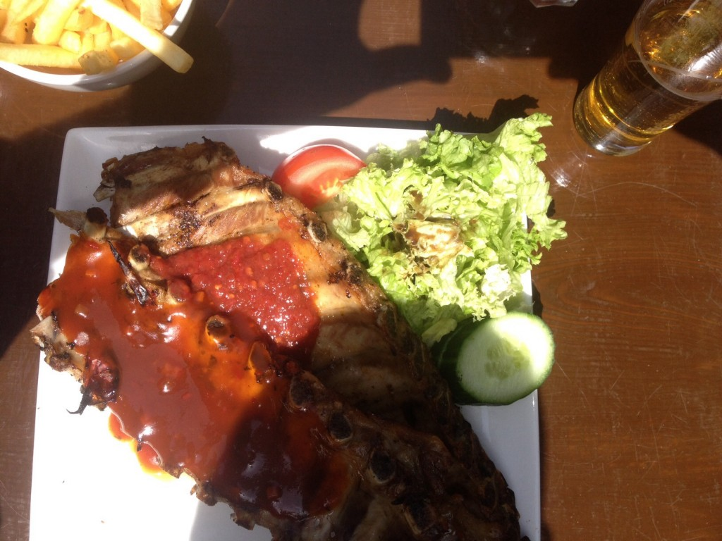 Mouthwatering ribs at the Rancho Grill