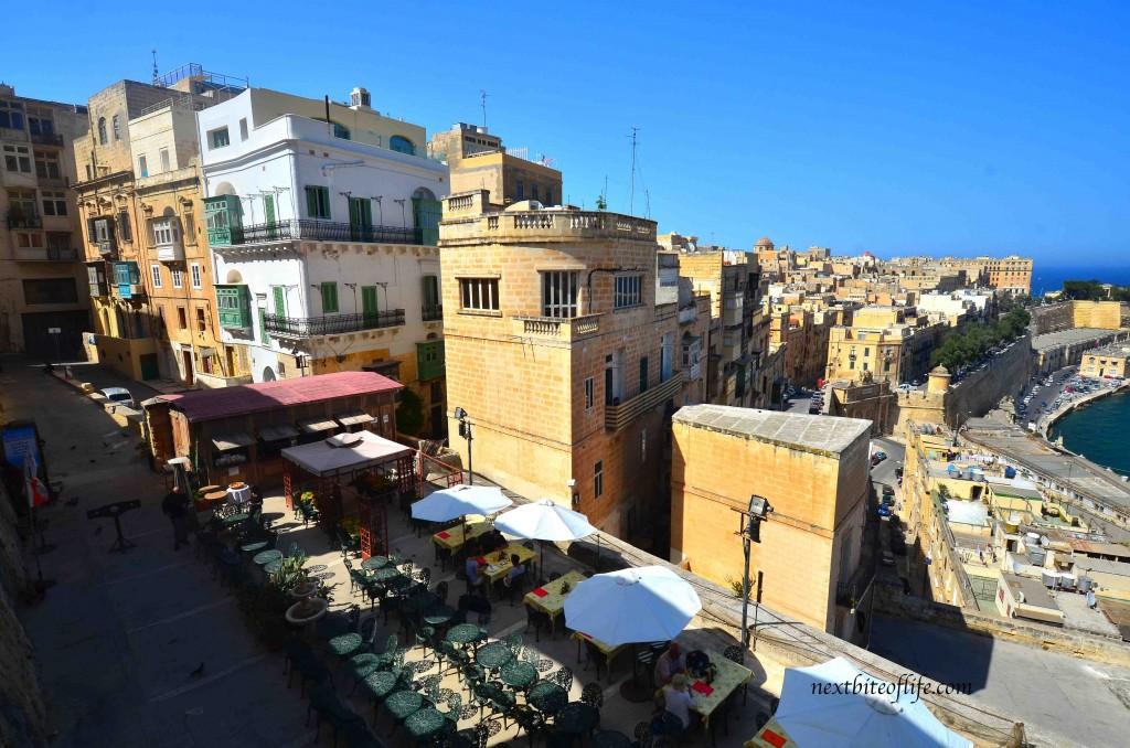 valletta malta view of restaurants