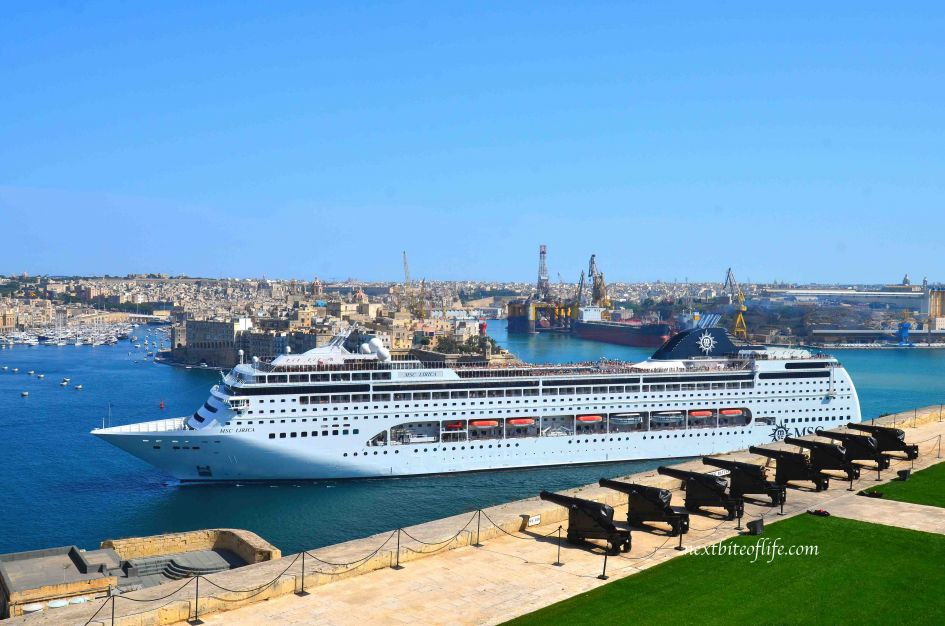 valletta cruise ship at the valletta harbor