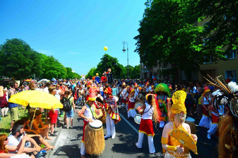 people enjoying Berlin carnival of culture