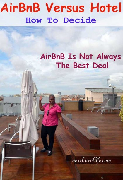 airbnb vs hotel a comparison. AirBnB is not always the best deal. #airbnbvshotel #costcomparison #airbnbbarcelona #travel