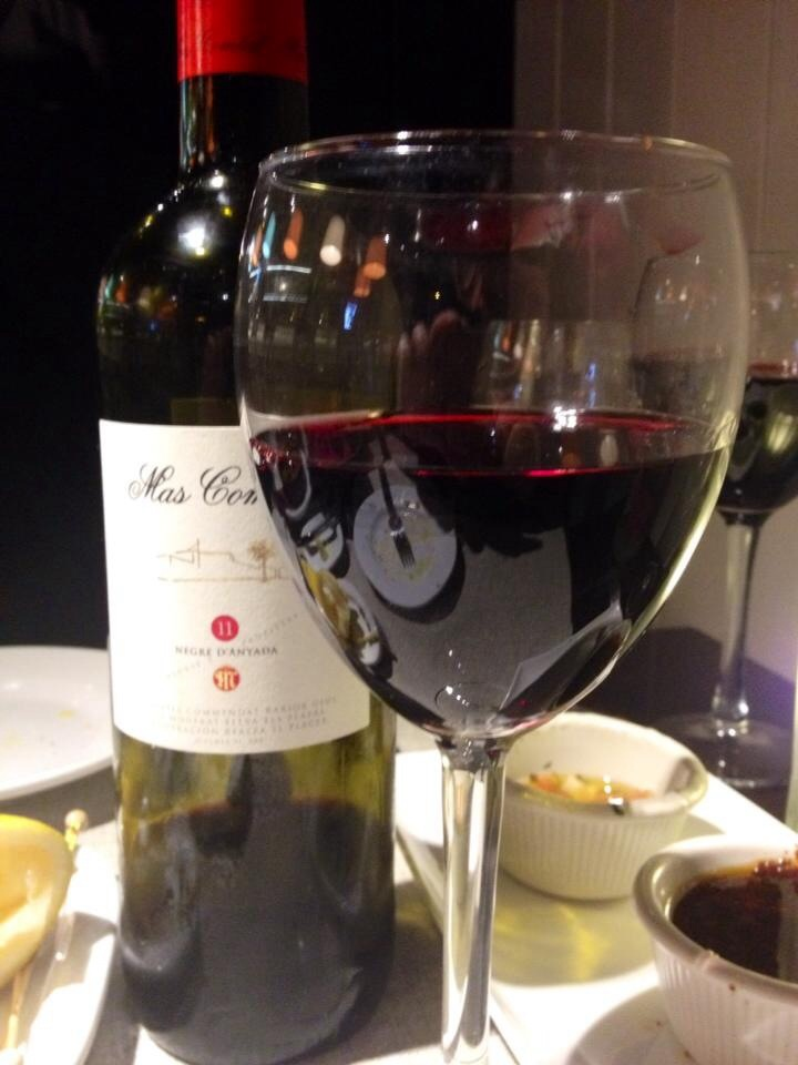 wine at buenos aires grill Barcelona