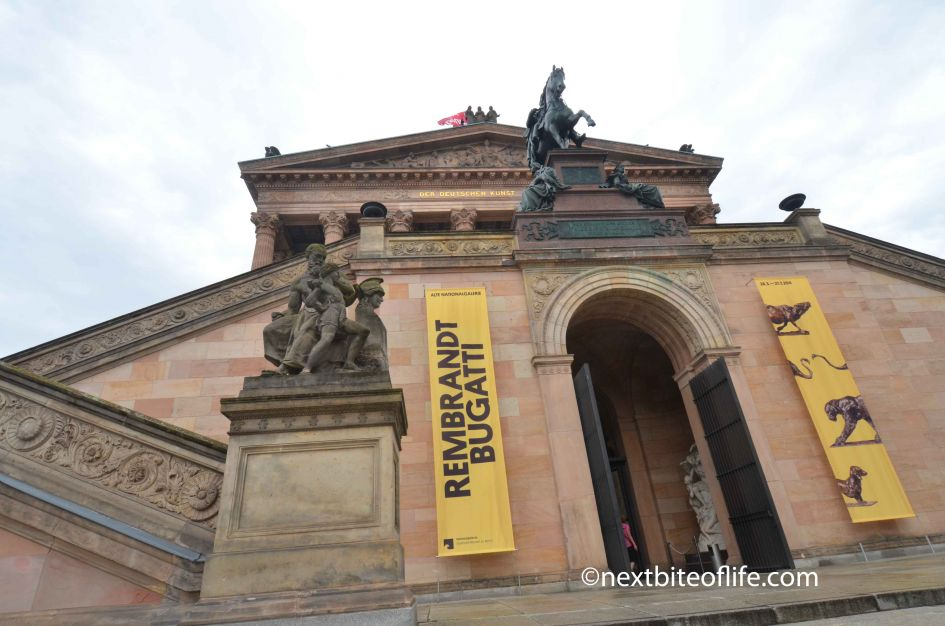 National Gallery Berlin entrance.