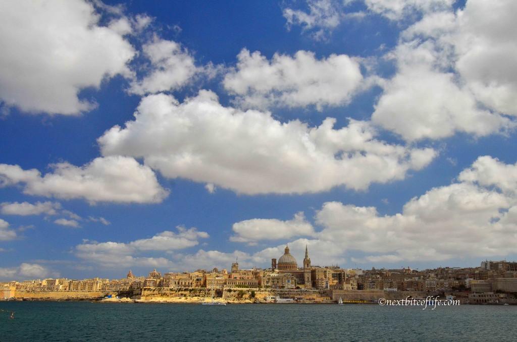 Looking at Valletta from Sliema