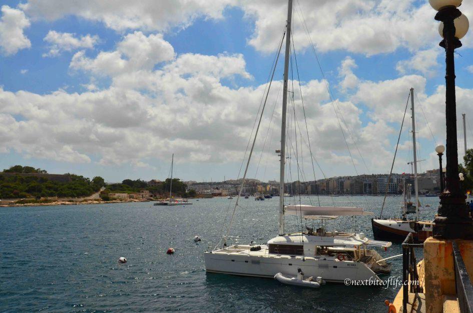 sailboats in Sliema docked, malta