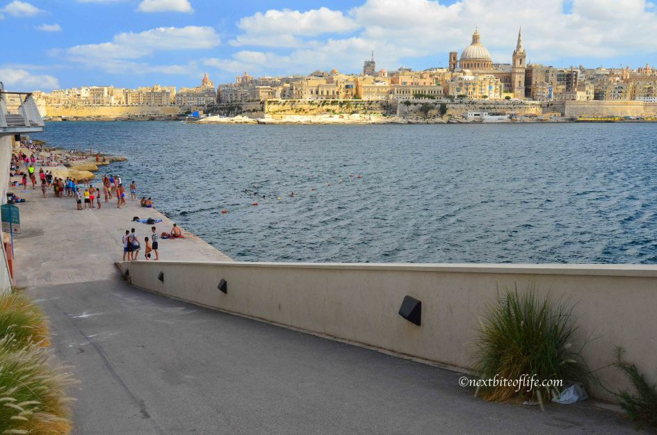 sliema bay malat with view to valletta
